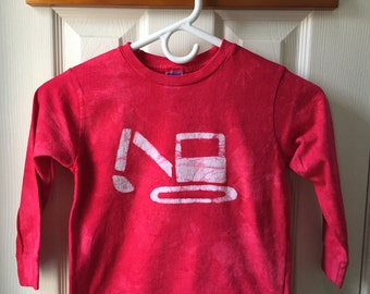 Kids Construction Shirt, Kids Excavator Shirt, Kids Digger Shirt, Red Truck Shirt, Kids Truck Shirt, Boys Truck, Girls Truck (4/5)