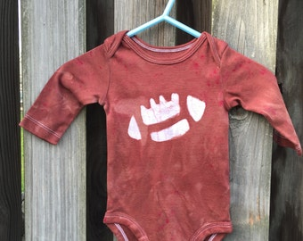 Football Baby Bodysuit, Football Baby Gift, Brown Football Bodysuit, Boys Football Bodysuit, Girls Football (3 months) SALE