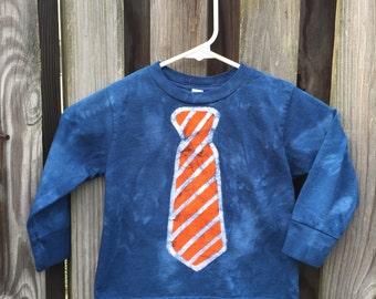 Kids Necktie Shirt (4T), Kids Shirt with Tie, Boys Tie Shirt, Blue Tie Shirt, Funny Kids Shirt, Funny Boys Shirt, Girls Tie Shirt