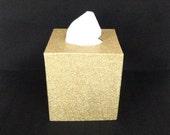 Glittered Tissue Box Cover, Paper Mache Box, Made to Order
