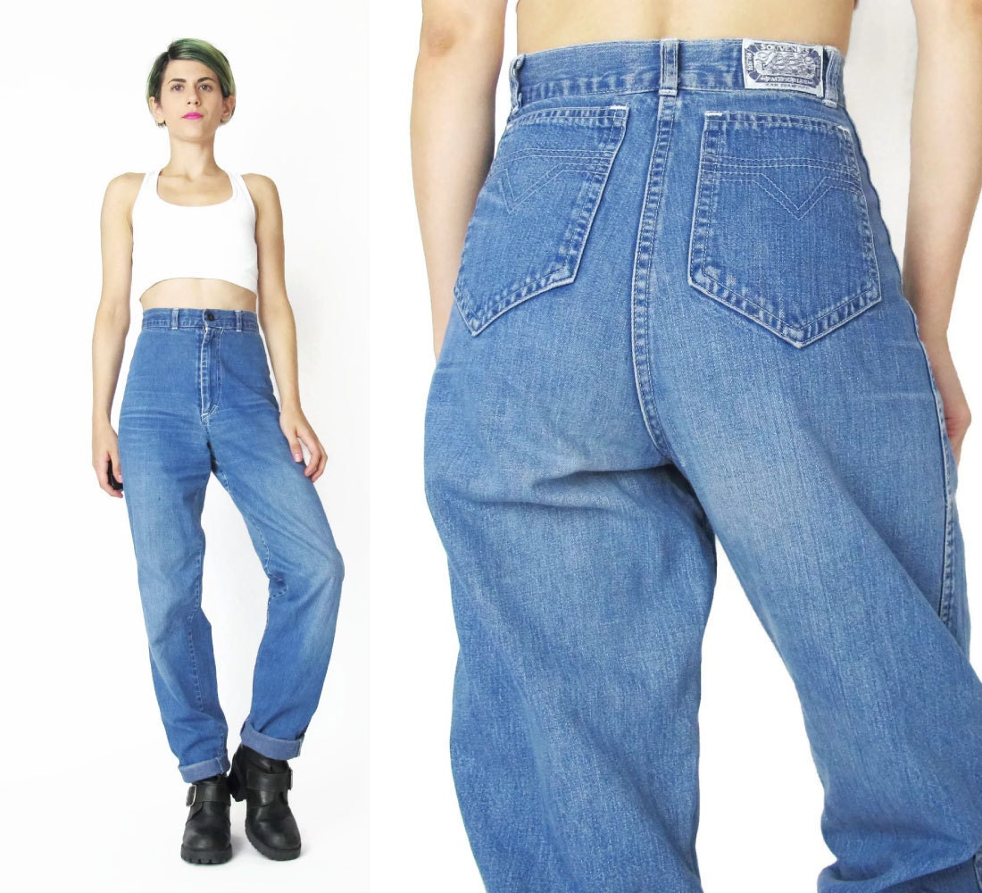 80s High Waist Jeans Vintage High Waisted Jeans Womens Mom