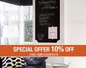 Chalkboard Wall Decal,  Elegant Style, Extra Large Chalkboard Sticker, Large Chalkboard Decal