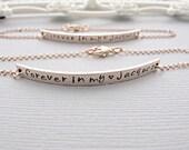 Rose Gold Nameplate Bracelet, ROSE GOLD Bar Bracelet, Engraved Bracelet, Personalized, Bracelet, Long Bar Bracelet, Rose gold Bracelet