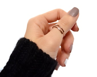 Thumb Ring - 14K Gold Filled, 14K Rose Gold Filled, or Sterling Silver