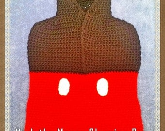 Mick the Mouse Sleeping Bag Crochet Pattern INSTANT DOWNLOAD - PDF