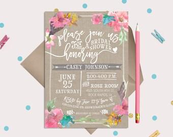 Floral Bridal Wedding Shower Invitation Cards · 3 DESIGN OPTIONS · Spring Flowers · Ranunculus