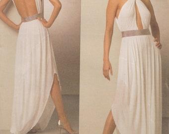 Vogue 1047 / Paris Original / Designer Sewing Pattern By Guy Laroche / Evening Dress Gown / Sizes 6 8 10 12