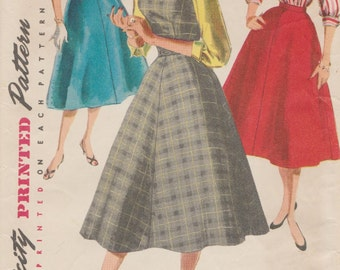 Simplicity 1246 / Vintage 50s Sewing Pattern / Dress Jumper Skirt Blouse / Size 20 Bust 38