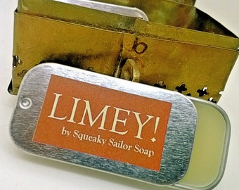 Limey! lip balm by Squeaky Sailor Soap
