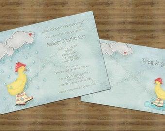 Duck Baby Shower Invitation Baby Sprinkle Invitation Duck Theme Shower Invite Rain Shower Invitation Rain Sprinkle Invite Printable Invite