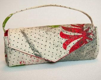 Clutch Handbag Purse, Screen Printed Fabric Purse, Unique Accessories, Special Occasion Purse