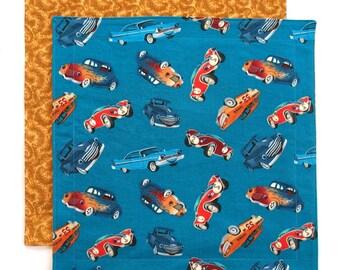 Cloth Napkin, Kids Napkin, Fabric School Napkin, Lunch Box Napkin for Boy, Cars, 1 double sided napkin