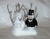 Winter Wonderland Snow Bride and Groom Topper Special order TerriePhilips