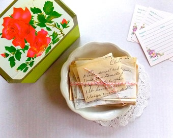 Old Hand Written Recipes / Lot of 15 / Vintage Recipes / Junk Journal