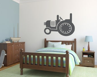 Tractor Wall Decal, Tractor Wall Art, Farm Decor, Farm Decal, Nursery Wall Decal, Tractor Decal, Childrens Wall Art, Apartment Wall Decor