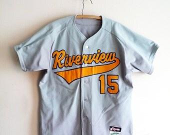 Vintage Baseball Shirt Number 15 Riverview, SALE