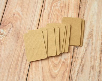 50pc RIPPLED Brown Eco Series Business Card Blanks