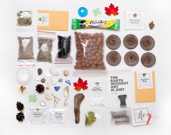 Build your own TERRARIUM! Do-it-yourself DIY desktop garden kit — not just for green thumbs — Use your own vessel! Seeds + instruction book