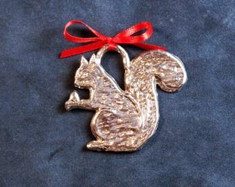 Pewter Squirrel Ornament