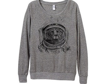 New! Space Bear Sweater  - Womens Space Bear Sweatshirt  - Small, Medium, Large, Extra Large (3 Color Options)