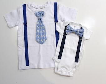 Boys Hannukah Shirt. Dreidel Shirt. Tie and Suspenders Bodysuit. Baby Tie. Chanukkah Chanukah Hanukkah outfit for boys. Newborn hanukkah.