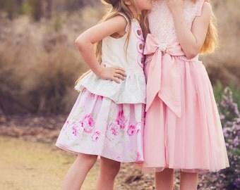 PDF Dress Pattern, Sewing Pattern, Girls Dress Pattern, Fancy Dress Pattern, Harbor, Easy Sewing Pattern,