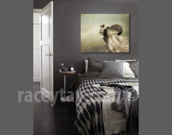 Washington DC Art on Canvas - Large Wall Art- Neutral Brown Gray Beige Canvas Print