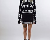 VTG 90s grunge Monochromatic Cheer Mini Skirt SMALL