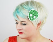 SALE - Skull Glitter Hair Clip, Various Colours - Christmas In July CIJ
