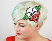 Halloween Creepy Clown Headband, Glitter