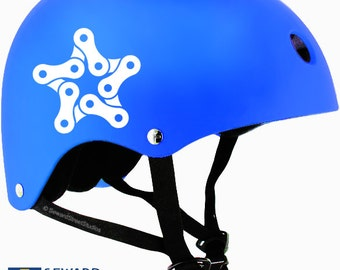 "Bike Chain Star Decal / Bicycle Chain Star Sticker / Bike Chain Helmet Sticker / Bicycle Star Laptop Sticker / 3.25""h x 3.50""w / #993"
