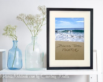 BLESS THIS HOME - New Home Housewarming Gift - Beautiful Beach Decor -New Homeowners - New Home Gift - New Home Sign - Beach Decor
