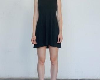 Vintage Mesh 1990's Babydoll Sleeveless Shell Mod Stretch A Line Mini Dress S