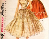 1950s Fit & Flare Dress Pattern - Vintage Simplicity 1158 - B32