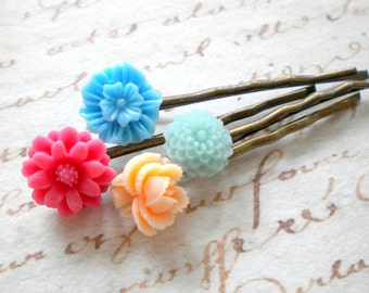 Flower Girl Hair Accessories Baby Girl Gift Blue Bobby Pin Birthday Gift For Girls Children Hair accessories Bobby Pin Set Children Gift