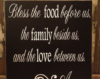 Bless The Food Custom Wood Sign ~Kitchen Sign ~READY TO SHIP ~Kitchen Decor~Prayer Sign~Bless The Food Before Us~Dining Room Decor~Blessings
