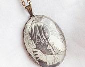 Vampire Knight - Yuki Cross x Zero Kiryu - Glass Jewelry - Handmade Recycled - Manga / Anime Pendant Necklace