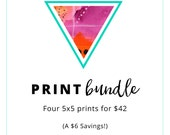 Yoga Art Print Bundle: Buy any 4 (5x5) prints