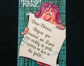 Vintage Studio Naughty Get Well Greeting Card - Unused with Envelope