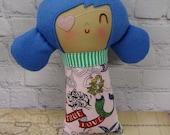 Mazzie Pirate Girl // Pirate Doll // Handmade Doll // Rag Doll // Valentine Gift // Nursery Decor // New Baby Gift