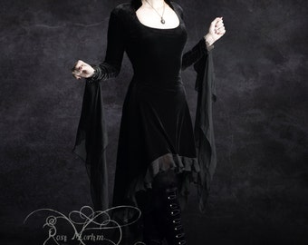 Circee Romantic Gothic Dress Handmade Bespoke - Dark Romantic Couture and Fairy Tale Dresses by Rose Mortem