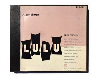 "Alvin Lustig record album design, c.1955. Alban Berg ""Lulu"" LP box set"