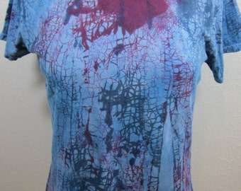 Crackle Tie Dye Blue Size Large