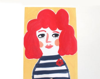 A4 Giclee Art Print - Poppy