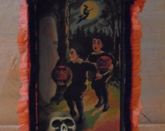 Vintage Inspired Halloween Altered Shadow box