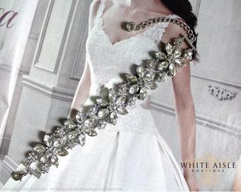 Crystal Flower Bridal Bracelet, Statement Bracelet, Evening Bracelet, Rhinestone Bracelet, Vintage Inspired Bridal Bracelet