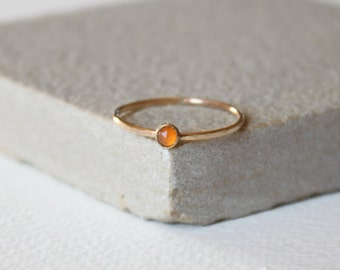 Gold Carnelian, gold stacking ring, thin gold ring, gemstone ring, stacking ring, delicate jewellery,