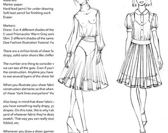"""Practice Pack for """"Fashion Illustration Tutorial: Sheer Fabrics"""" Video"""