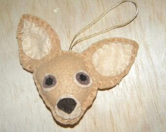 Felt Chihuahua Ornament