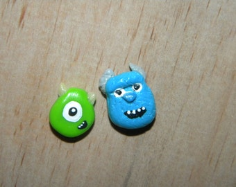 Monsters, Inc. Inspired Mike and Sulley Earrings
